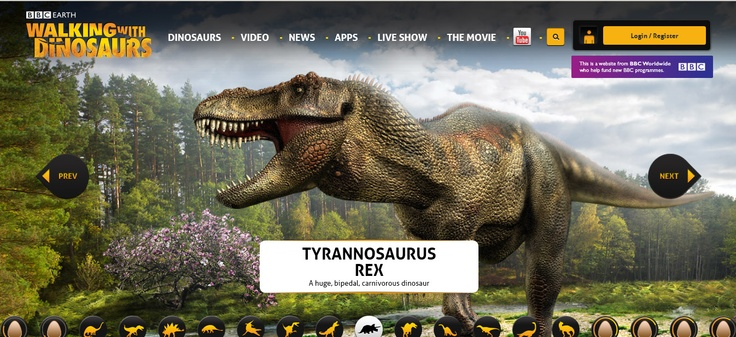 12x Great Dinosaur Websites for Kids