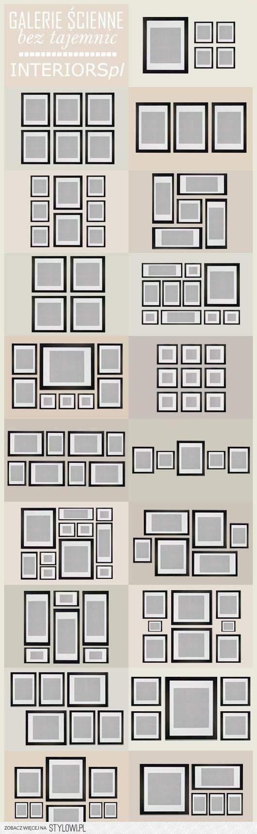 W jakim układzie wieszać ramki na ścianie ? O to odpowiedź :)