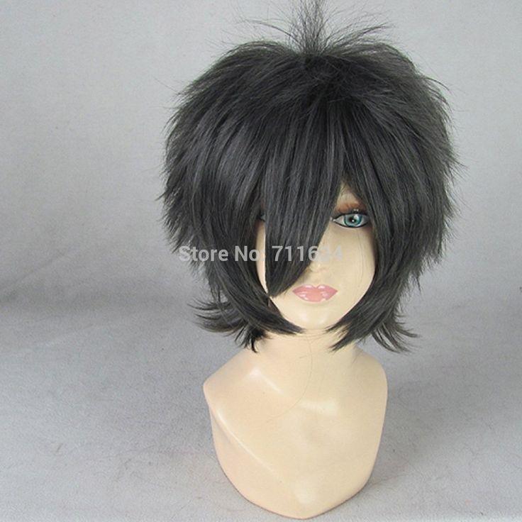 Ао нет изгоняющий дьявола Okumura юкио черный серый короткие косплей костюм парик
