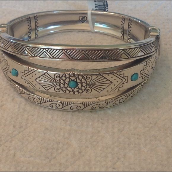 Brightest Navajo Hinged Bangle Authentic Brighton Navajo Hinged Bangle makes a great statement! Brighton Jewelry Necklaces