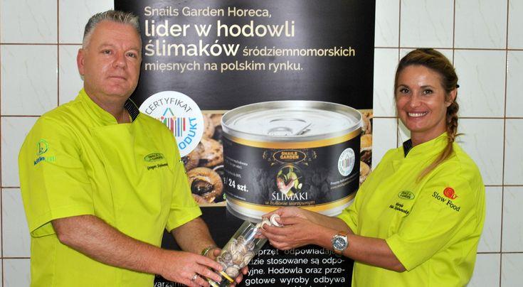 Mariola Piłat - Skalmowska i Grzegorz Skalmowski właściciele firmy Snails Garden na Warmii i Mazurach