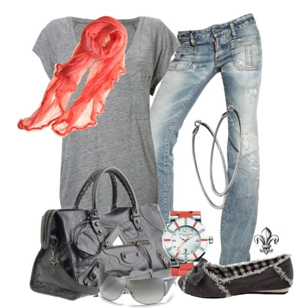 """""""Gray and Coral"""" Love it!!"""