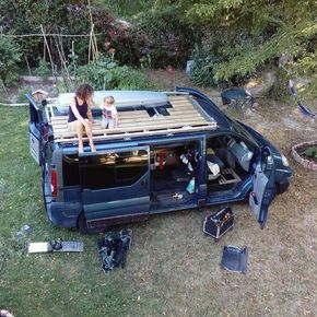 """""""We got a ladder a deck and a roofbox Time to hit the road!"""" @slow_road #Vanlifers #adventuremobile"""