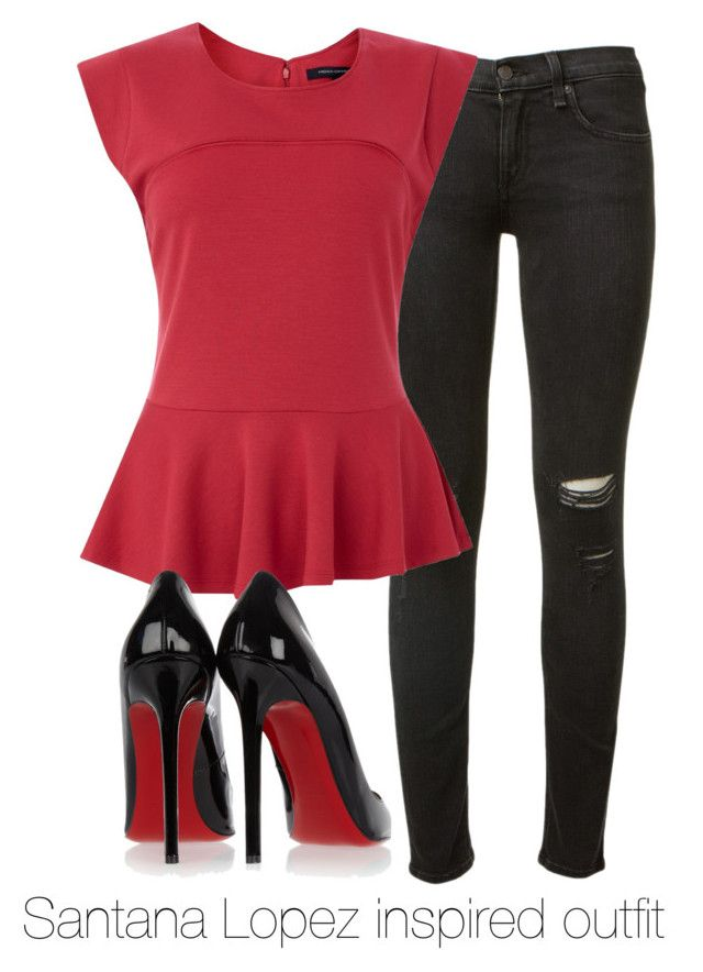 """Santana Lopez inspired outfit/ Glee"" by tvdsarahmichele ❤ liked on Polyvore featuring rag & bone, French Connection, Christian Louboutin, glee, nayarivera and SantanaLopez"