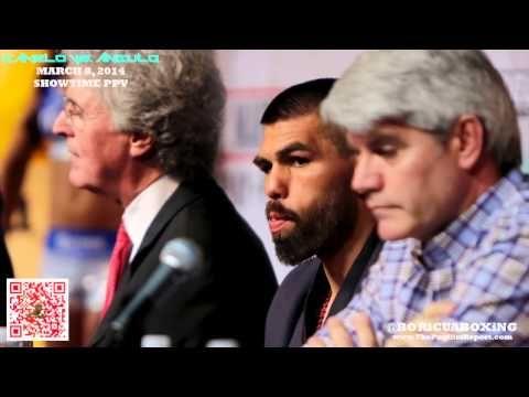 CANELO ALVAREZ VS. ALFREDO ANGULO Face-Off at the Final Press Conference in Las Vegas