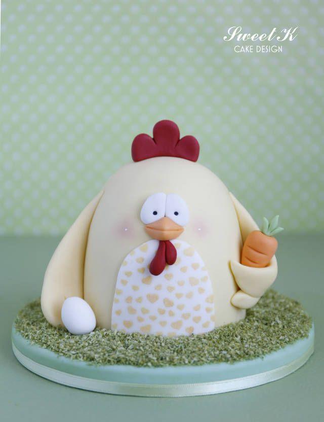 Easter Chicken Tutorial - CakesDecor