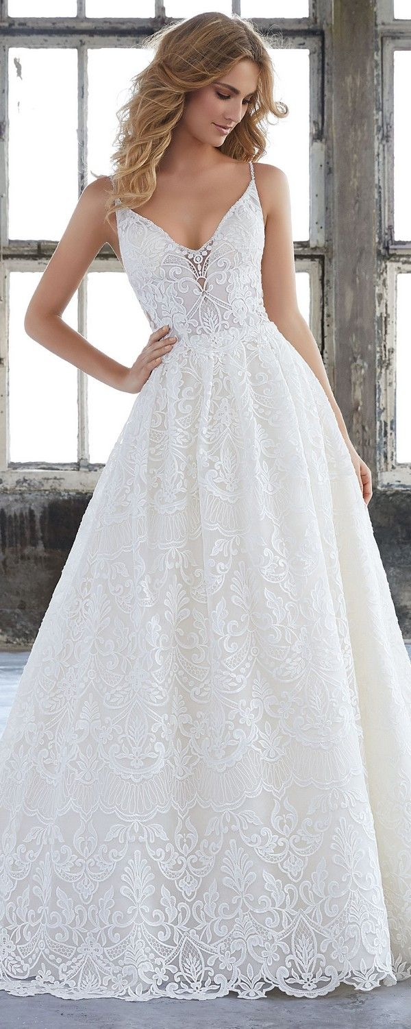 Kasey vintage a line Morilee wedding dress 2018
