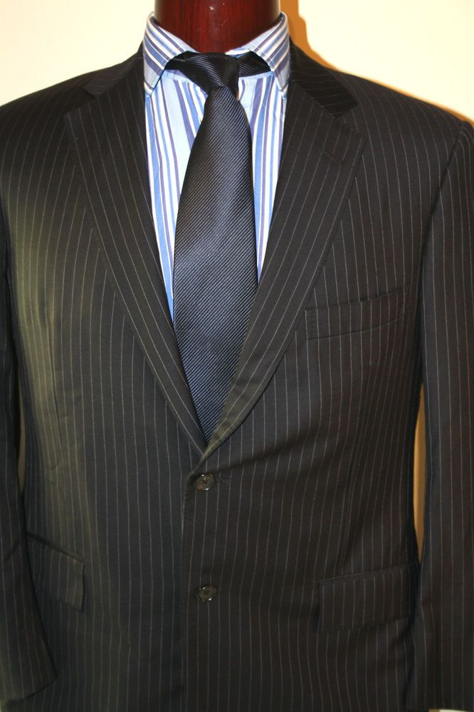 Brooks Brothers Blazer Sport Jacket Coat 42R Two Button Italy 100% Wool