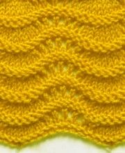 Wellenmuster #‎Strickmuster‬ http://strick-anleitung.com/category/wellenmuster.html