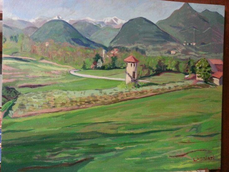 Paesaggio dalla Cascina Marinona - Luigi Abbiati, aprile 2014