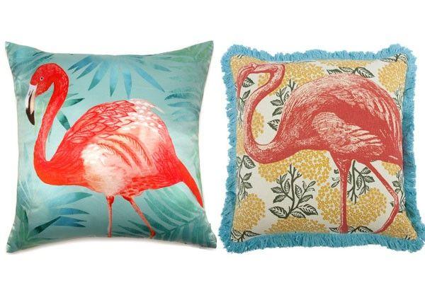 Flamingo cushions. Learn more at frankihobson.com