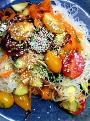 Cocina de Estación: Fideos de arroz con verduras