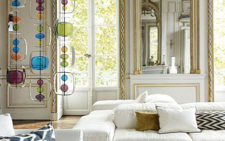 South Scandinavian style living room, Barovier & Tosco. http://www.kenisahome.com/blog