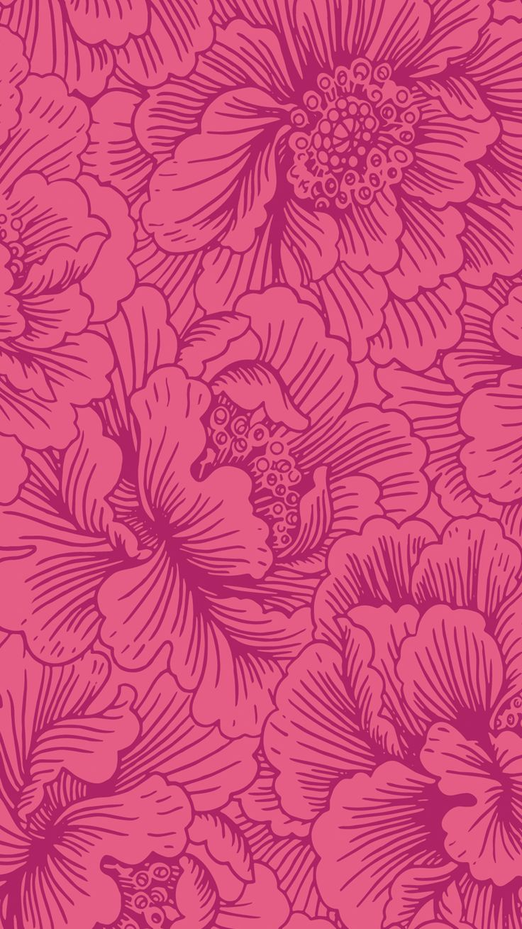 Image for CandyShell Inked by Speck Wallpaper - FreshFloral Red/Boysenberry Purple