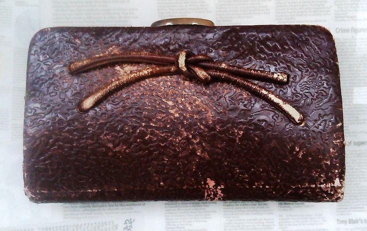Vintage bag clutch bag for women leather bag purse  leather handbag vintage evening bag brown  clutch  bag vintage fashion gifts by Vintageashley1 on Etsy