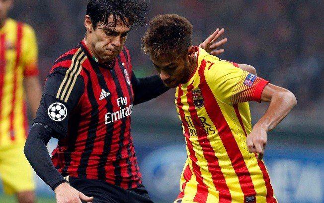 Kaká e Neymar, mitos do futebol brasileiro que brilham no futebol europeu.