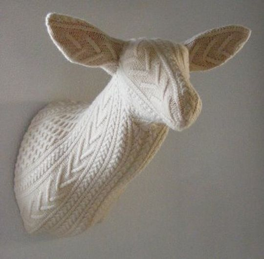 Recycled Sweater Deer by Rachel Denny //Domestic Trophies Collection, picture inspiration