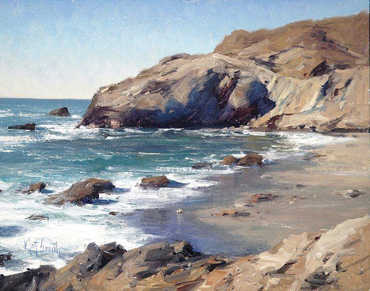 """MATT SMITH, """"Between Harbors"""" (oil, 11x14)"""