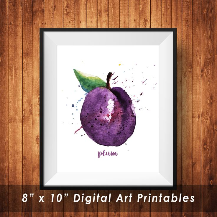 Watercolor Plum wall art printable, Inspirational, Motivation, Purple Plum Wall Art Printable, Poster, wall decor, Digital Download by DonyDesigns on Etsy