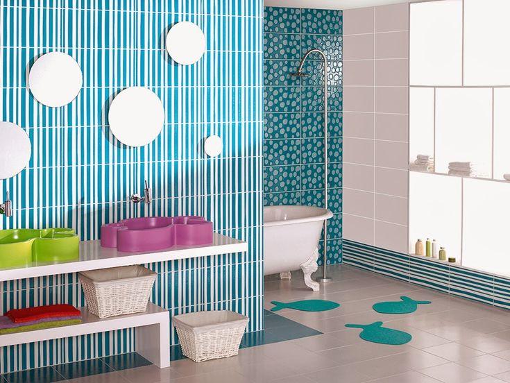Texturas y colores.   #Baño para #niñas.