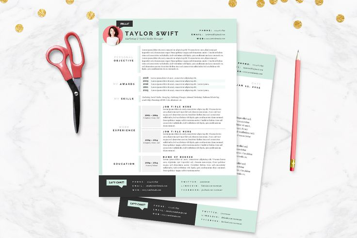30 Sexy Resume Templates Guaranteed to Get You Hired Articles - resume and cover letter template