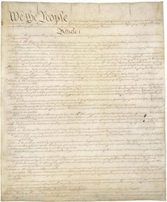 Constitution of the United States of America (1787)    Download PDF of the Constitution  The Constitution was written in the summer of 1787 in Philadelphi