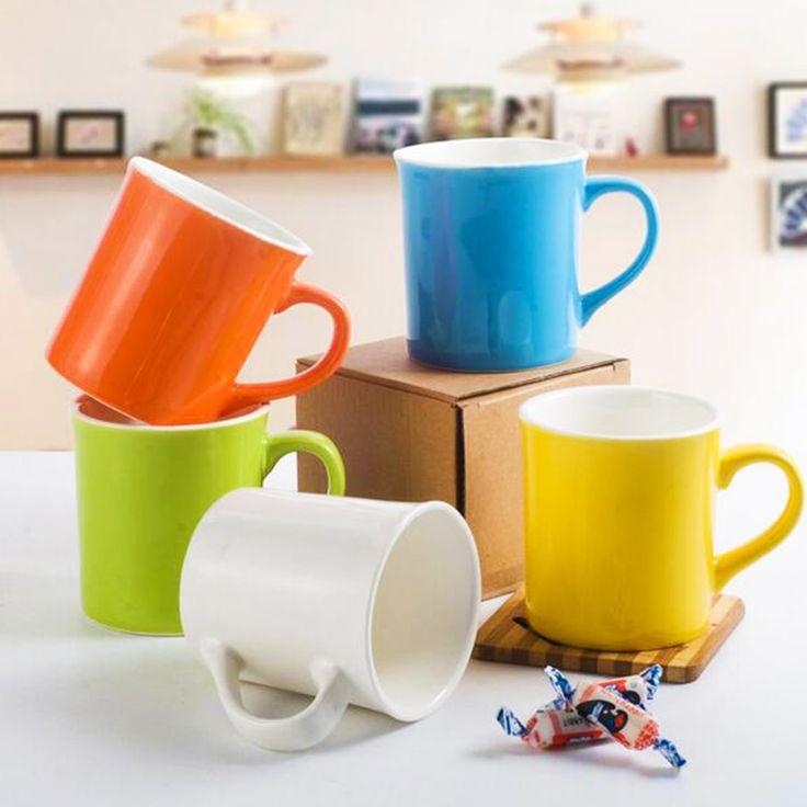 Bone China Drinkware Ceramic Coffee Mug Colorful Tea Cups Water Caneca Glaze 5 Colors Quality Zakka Nespresso Free Shipping #Affiliate