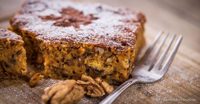 Sütőtökös - diós pite , avagy a sütőtök inkognitóban. Csak én szeretem a sütőtököt a családban, de ez a sütemény mégis mindenkinek ízlik.