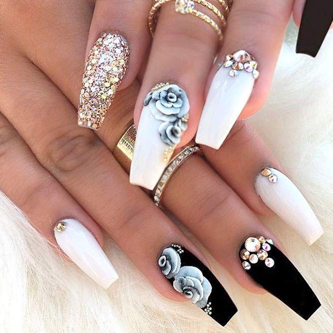 Cute Acrylic Nails Art 6 150 Trendy Acrylic Nails Designs 2018