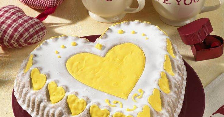 Heart Shaped Lemon Cake Recipe