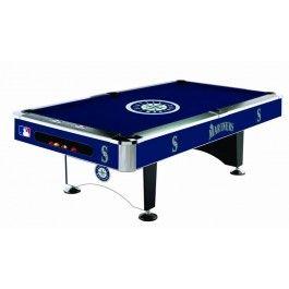 Seattle Mariners MLB 8ft Billiards Pool Table