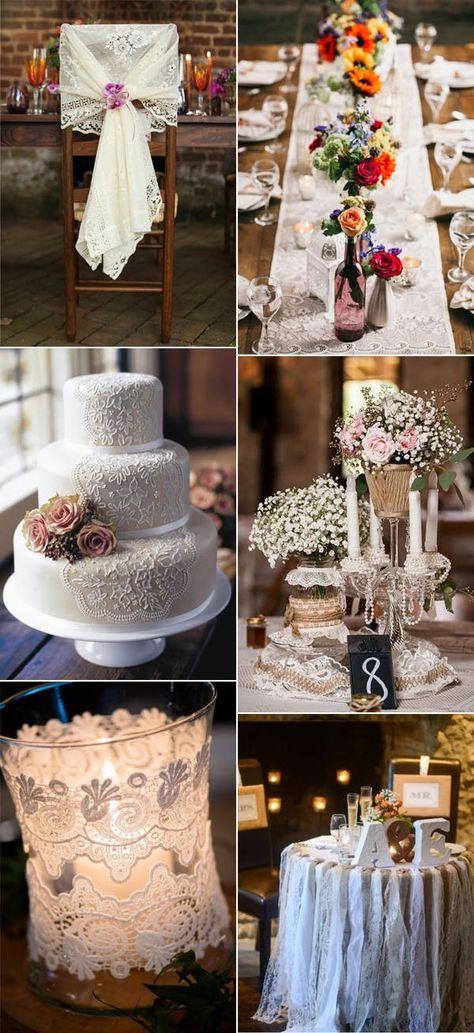 elegant lace vintage wedding ideas