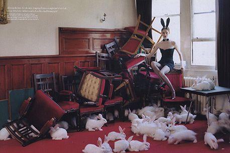 Tim Walker Bunny Ears for Vogue