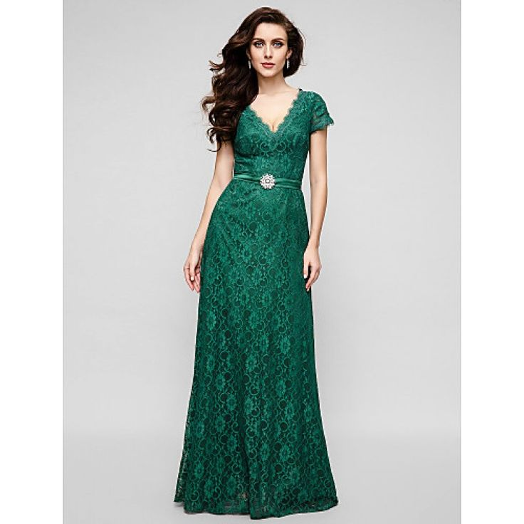 Australia Formal Evening Dress Military Ball Dress Dark Green Plus Sizes Dresses Petite A-line V-neck Long Floor-length Lace Dress Formal Dress Australia #formaldresses #greenformaldresses #greendresses #australiaformaldresses