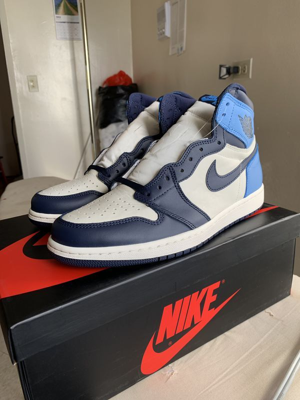 Nike Air Jordan 1 Retro High Og I Aj1 Obsidian Unc Blue Men Shoes