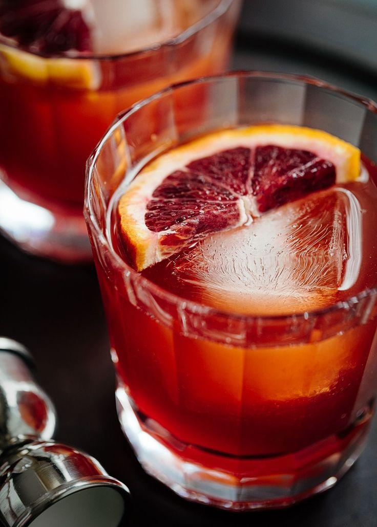 blood orange boulevardier cocktail #cocktailrecipes