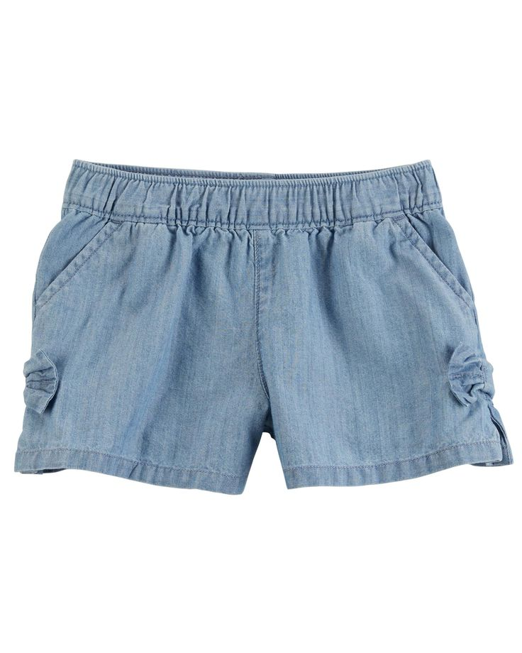 Baby Girl Easy Pull-On Bow Shorts   Carters.com
