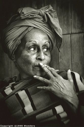 Omara Portuondo (born Omara Portuondo Peláez), Cuban singer & former Tropicana dancer whose career has spanned over half a century. She was one of the original members of the Cuarteto d'Aida, and has performed with Ignacio Piñeiro, Orquesta Anacaona, Orquesta Aragón, Nat King Cole, Adalberto Álvarez, Los Van Van, the Buena Vista ensemble, Pupy Pedroso, Chucho Valdés & Juan Formell. You can hear her sing (duetting with the late Ibrahim Ferrer) on the album Buena Vista Social Club.