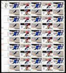 US #1795-1798 Stamps for sale  15 cents Winter Olympics Stamps  Speed Skating, Downhill Skiing, Ski Jump and Ice Hockey  Full Sheet #olympics #sports #skiing