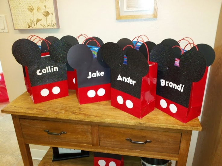 Mickey Mouse Party Favor bags | Micky Mouse party ...