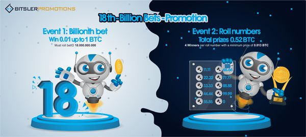 The 18 billionth bet will be rolled on bitsler.com soon, with 1.52 #bitcoin ($10,000) in prizes! Post your winning bets @ https://bitcointalk.org/index.php?topic=2345826.0 😎