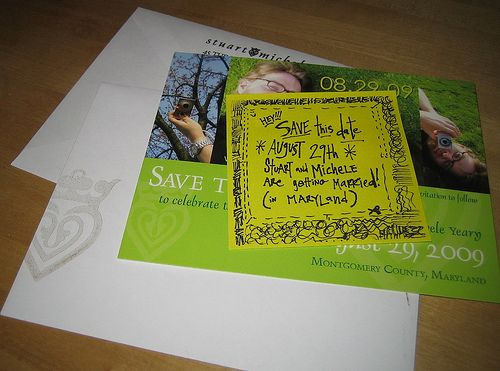 Save The Date Cards With Post It Notes Vistaprint