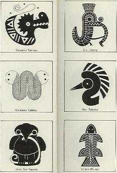 Dibujos sobre arte precolombino - Antonio Grass