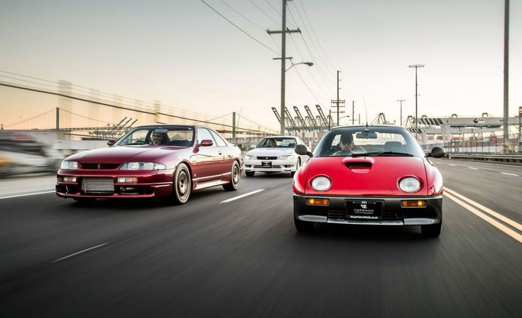 View Photos of the 1993 Mazda Autozam AZ-1, 1993 Nissan Skyline GTS-25, and 1993 Toyota Mark II Tourer V