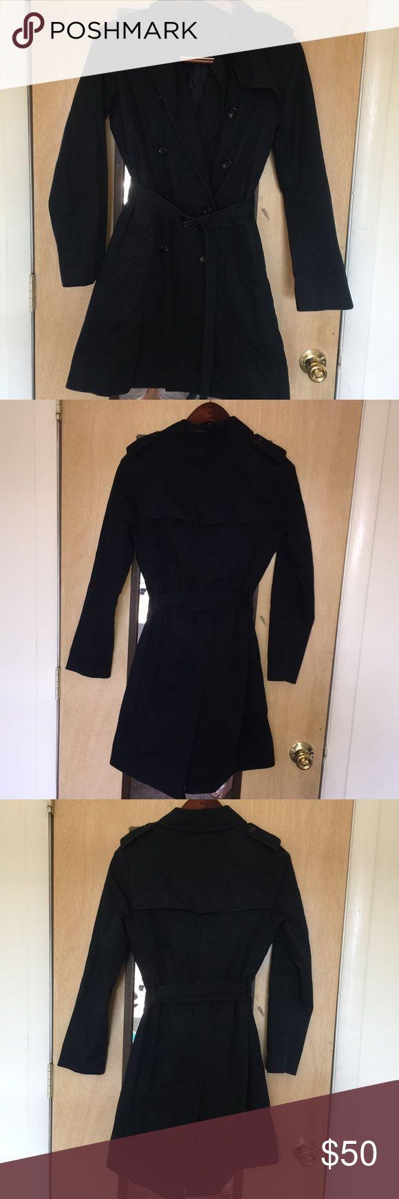 Uniqlo black trench coat Black trench coat Uniqlo Jackets & Coats Trench Coats