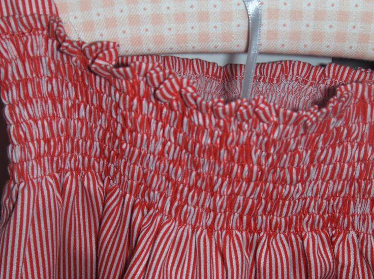Martinita: Vestido fruncido a rayas