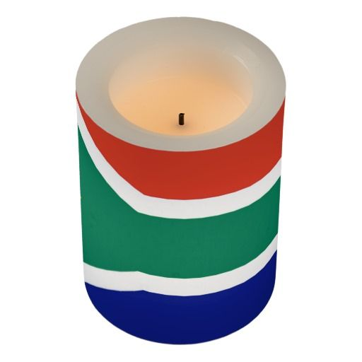 South Africa flag flameless candle. South Africa is such a beautiful country.