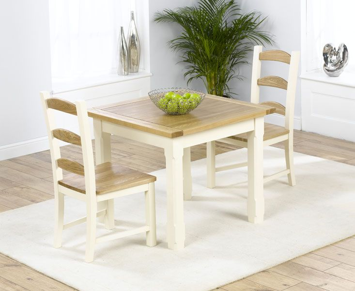 Eton 90cm Square Kitchen Table with 2 Chairs