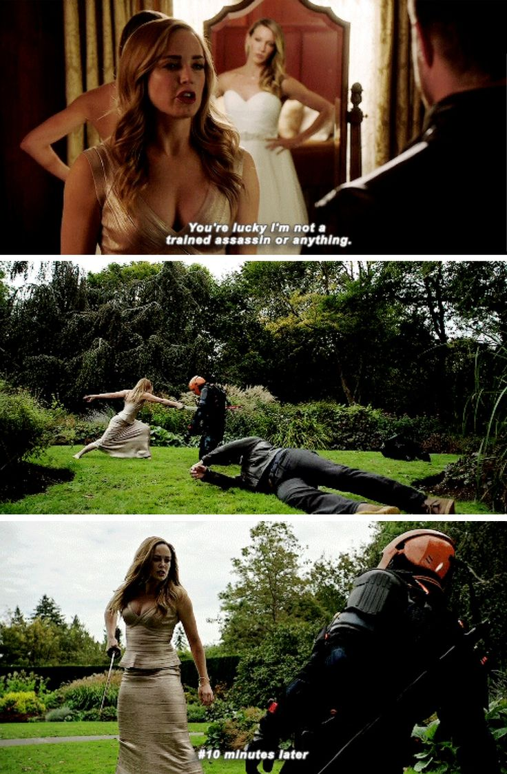 Sara Lance a badass in every universe! #Arrow #Season5 #5x08 #Arrow100 - Crossover Part 2!