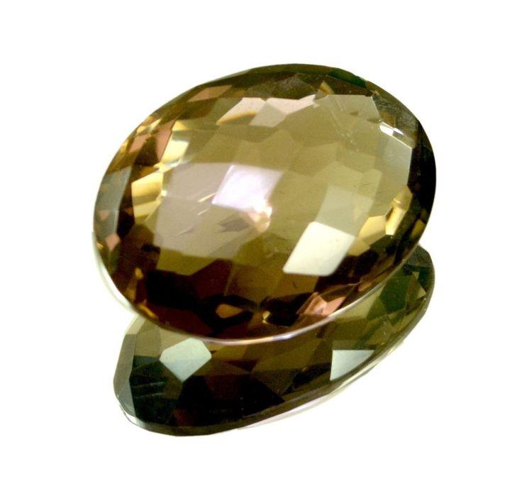 112ct VS Big Natural Oval Cut Smokey Quartz Chekerboard Pendant Loose Gemstone #krsnajewelsindia